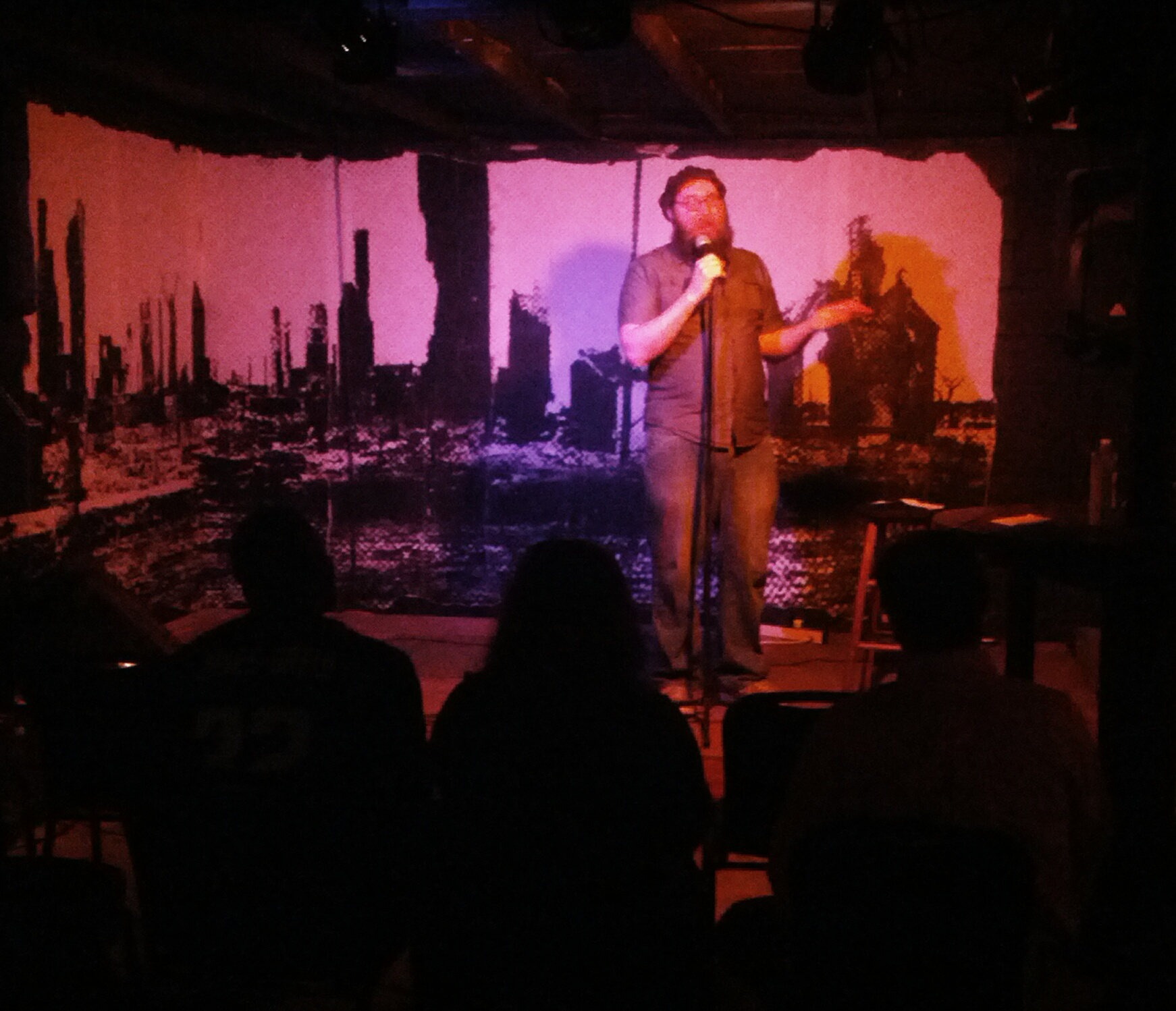 Chris Buck on stage at Rain Dogs in Jacksonville, Florida