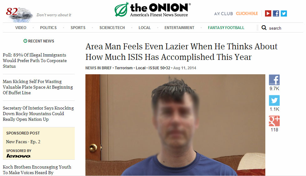 satirical article by the onion Satire is a genre of literature, and sometimes graphic and performing arts, in which vices, follies, abuses, and shortcomings are held up to ridicule, ideally with the intent of shaming individuals, corporations, government, or society itself into improvement although satire is usually meant to be humorous, its greater purpose is often constructive social criticism, using wit to draw.